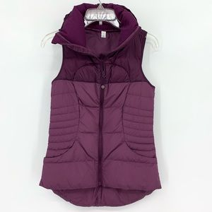 Lululemon Plum Fluffin' Awesome Down Vest, Size 4